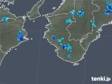2019年08月20日の和歌山県の雨雲の動き