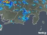 2019年08月21日の静岡県の雨雲の動き
