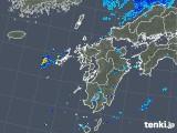 2019年08月22日の九州地方の雨雲の動き