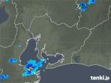 2019年08月22日の愛知県の雨雲の動き