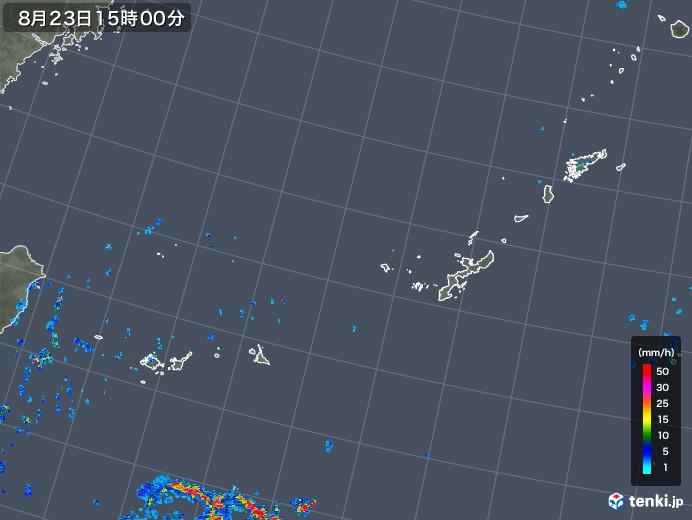 沖縄地方の雨雲レーダー(2019年08月23日)
