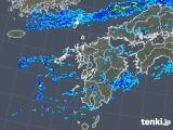 2019年08月23日の九州地方の雨雲の動き