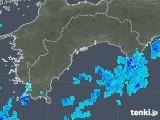 2019年08月23日の高知県の雨雲の動き