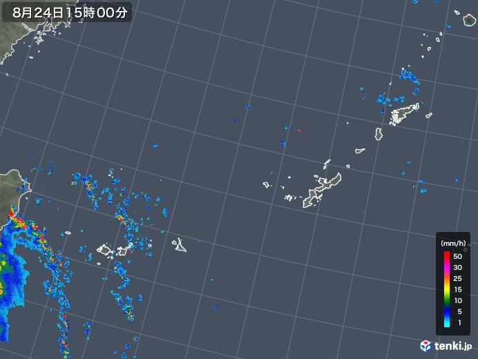 沖縄地方の雨雲レーダー(2019年08月24日)