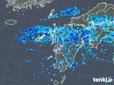 2019年08月24日の九州地方の雨雲の動き