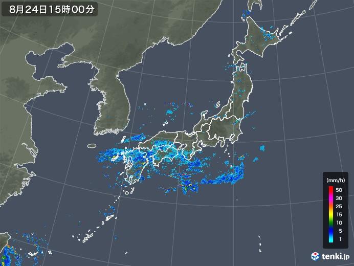 雨雲レーダー(2019年08月24日)