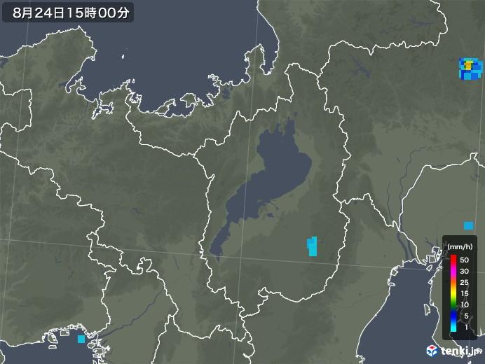 滋賀県の雨雲レーダー(2019年08月24日)
