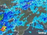 2019年08月24日の愛媛県の雨雲の動き