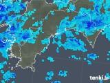 2019年08月24日の高知県の雨雲の動き