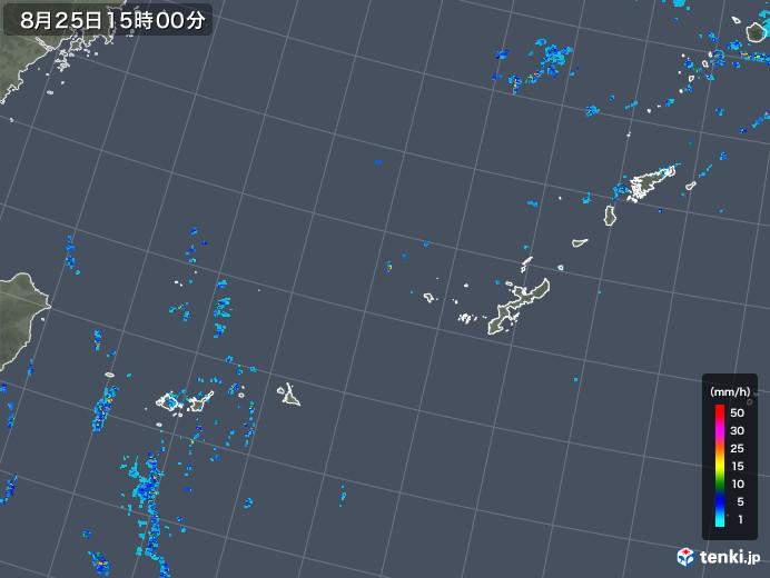 沖縄地方の雨雲レーダー(2019年08月25日)
