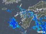 2019年08月26日の九州地方の雨雲の動き