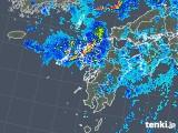 2019年08月27日の九州地方の雨雲の動き