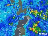 2019年08月27日の大阪府の雨雲の動き