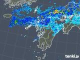 2019年08月28日の九州地方の雨雲の動き