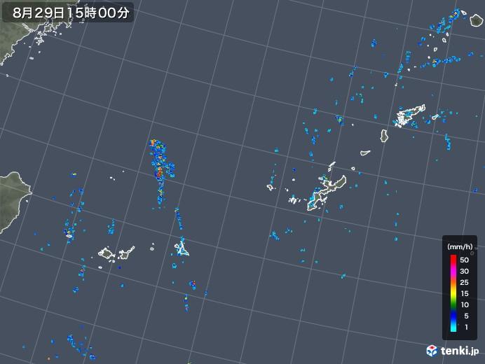 沖縄地方の雨雲レーダー(2019年08月29日)