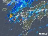 2019年08月29日の九州地方の雨雲の動き