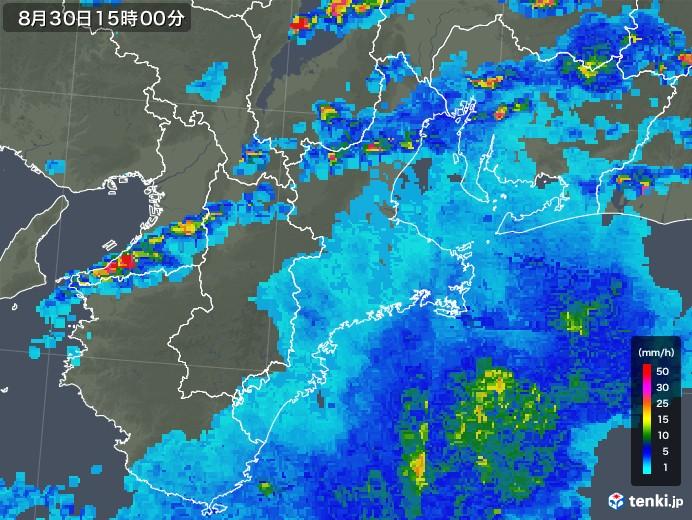 三重県の雨雲レーダー(2019年08月30日)