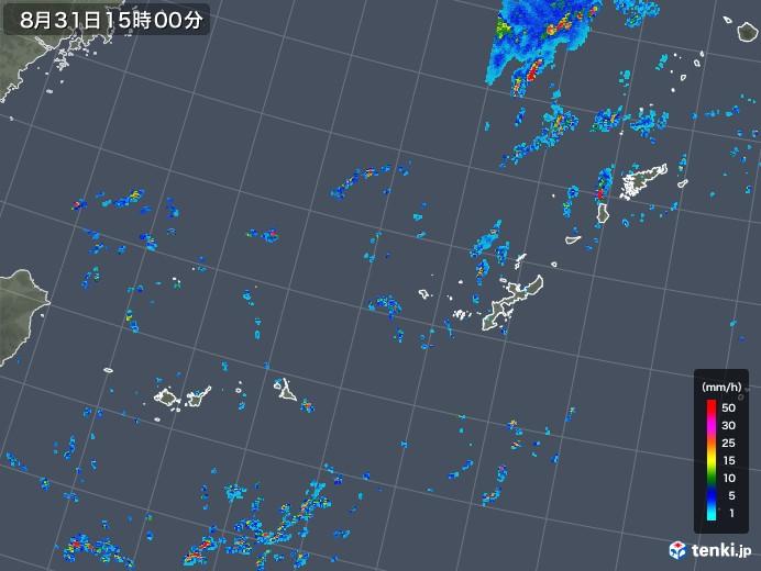 沖縄地方の雨雲レーダー(2019年08月31日)