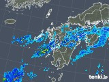 2019年08月31日の九州地方の雨雲の動き