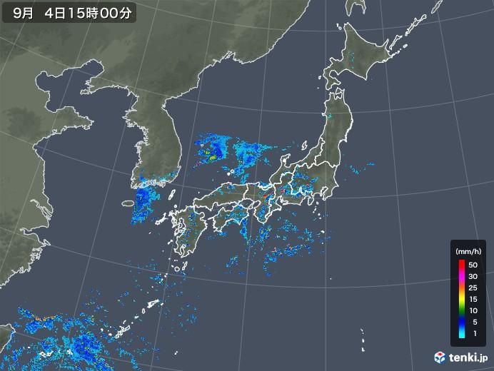 雨雲レーダー(2019年09月04日)