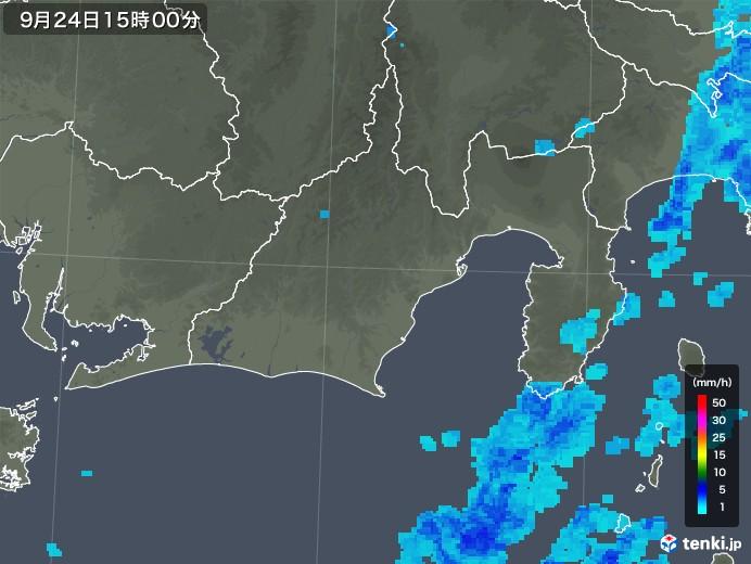 静岡県の雨雲レーダー(2019年09月24日)