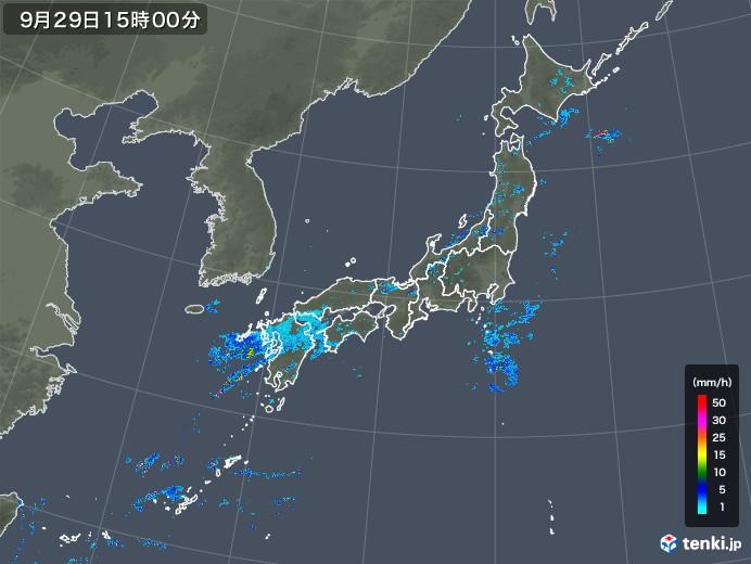 雨雲レーダー(2019年09月29日)