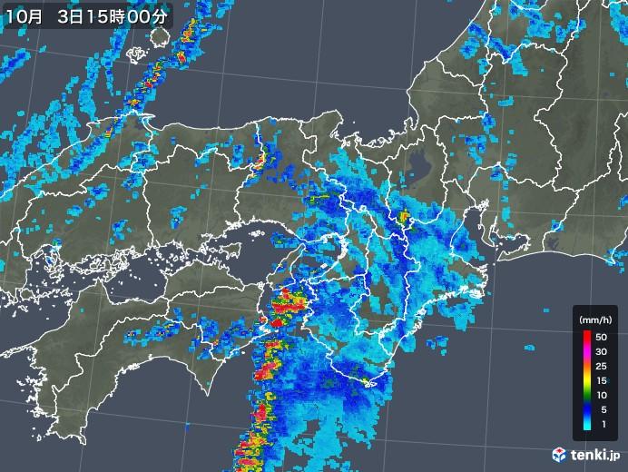 近畿 の 雨雲 レーダー