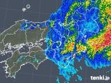 2019年10月12日の近畿地方の雨雲レーダー