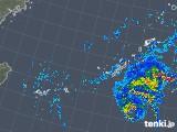 2019年10月20日の沖縄地方の雨雲レーダー