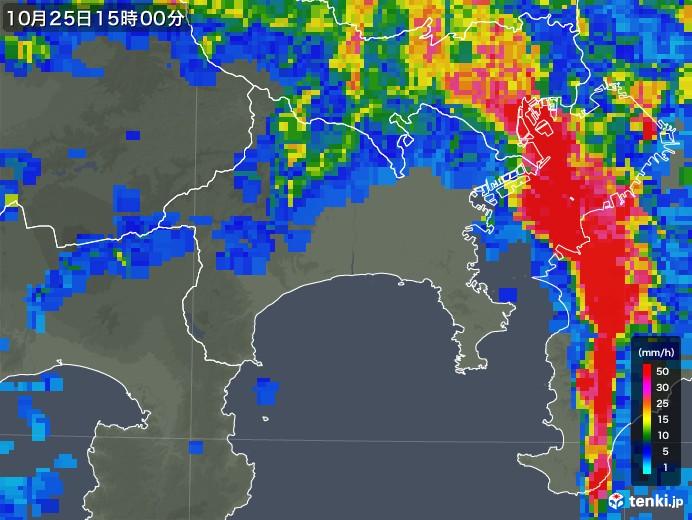 雨雲レーダー 相模原