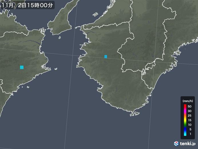 和歌山県の雨雲レーダー(2019年11月02日)