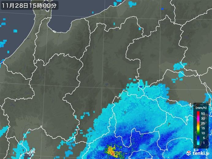 雨雲 レーダー 長野