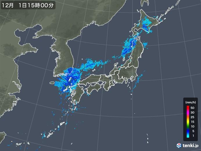 雨雲レーダー(2019年12月01日)