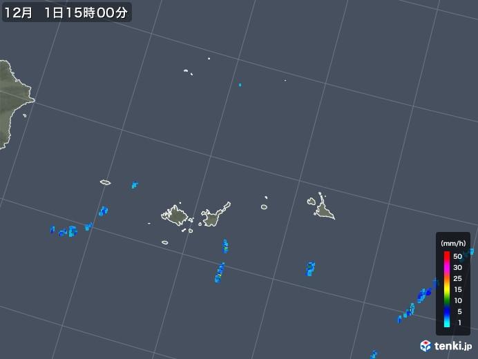 宮古島・石垣・与那国(沖縄県)の雨雲レーダー(2019年12月01日)