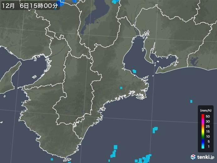 三重県の雨雲レーダー(2019年12月06日)