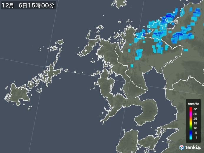 長崎県の雨雲レーダー(2019年12月06日)