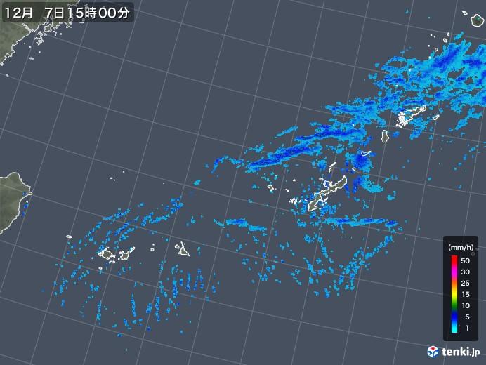沖縄地方の雨雲レーダー(2019年12月07日)