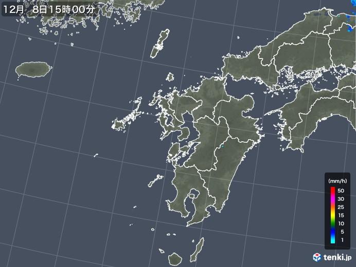 九州地方の雨雲レーダー(2019年12月08日)