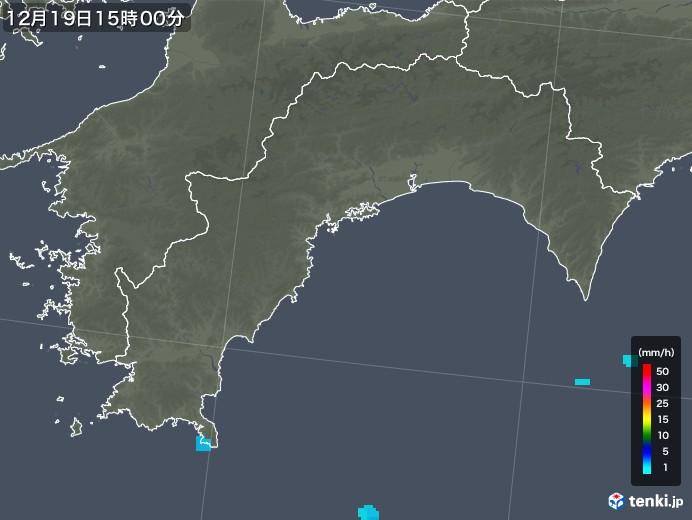 高知県の雨雲レーダー(2019年12月19日)