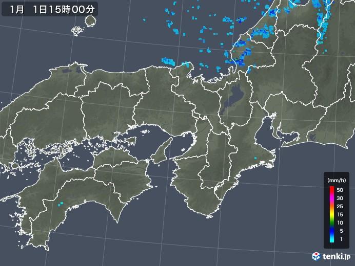 近畿地方の雨雲レーダー(2020年01月01日)
