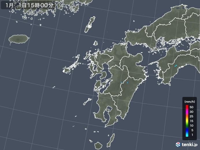 九州地方の雨雲レーダー(2020年01月01日)