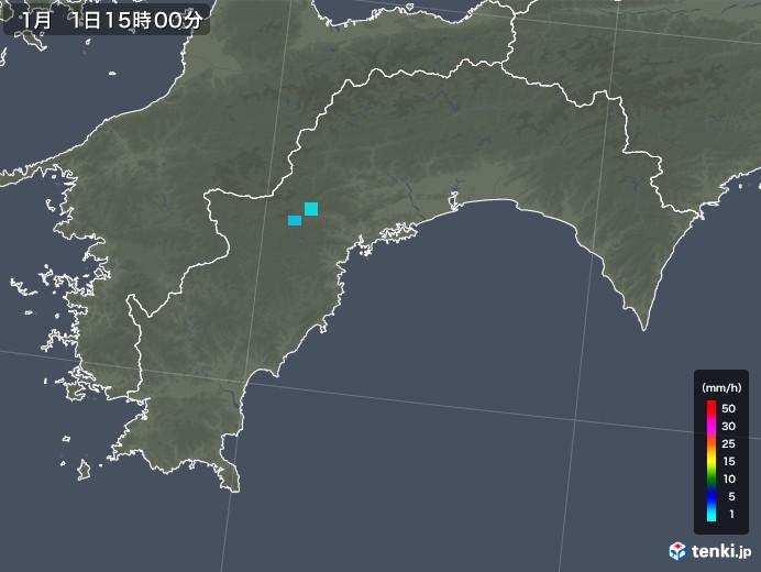 高知県の雨雲レーダー(2020年01月01日)