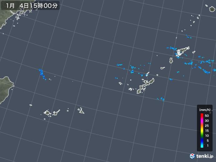 沖縄地方の雨雲レーダー(2020年01月04日)