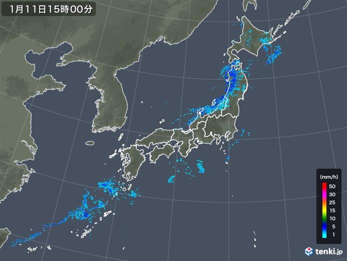 雨雲の動き(2020年01月11日)