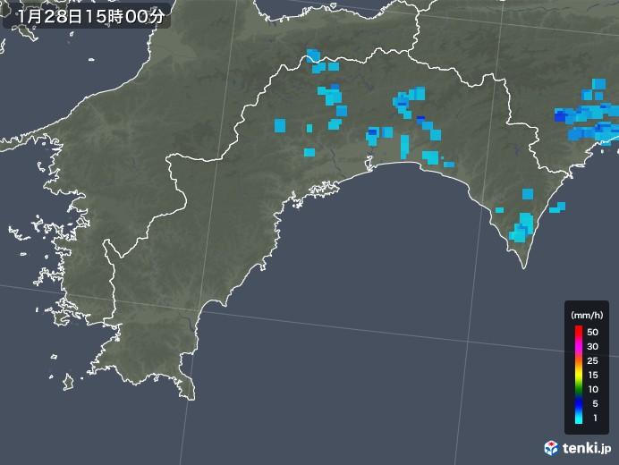 高知県の雨雲レーダー(2020年01月28日)