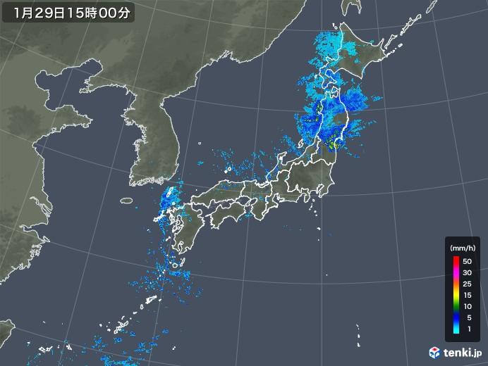雨雲レーダー(2020年01月29日)