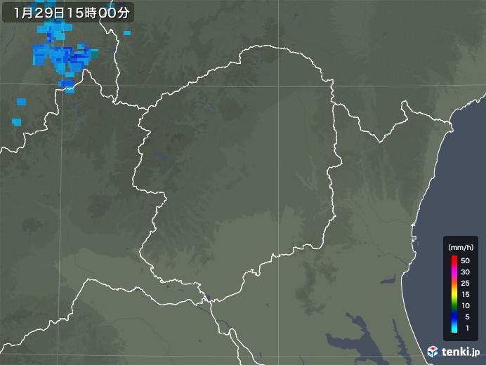 栃木県の雨雲レーダー(2020年01月29日)