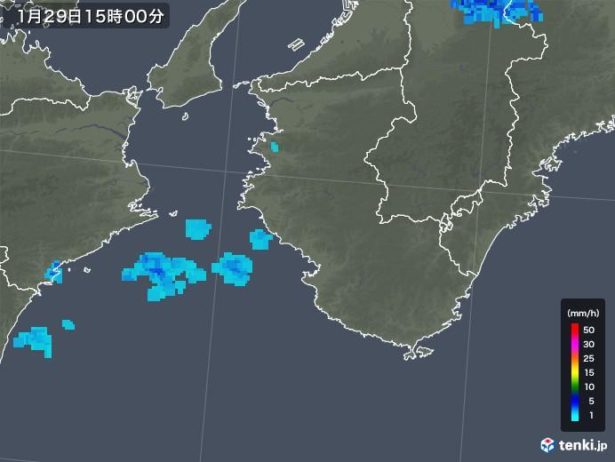 和歌山県の雨雲レーダー(2020年01月29日)