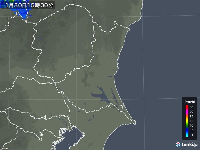 茨城県の雨雲レーダー(2020年01月30日)