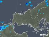 2020年01月30日の山口県の雨雲の動き